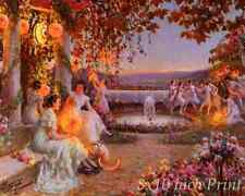 The Chinese Lanterns by Delphin Enjolras - Women Lights 8x10 Print Picture 1863