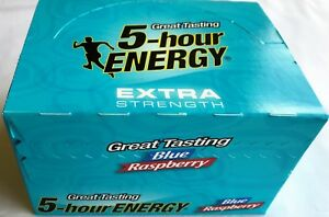 5 Hour Energy Extra Strength Blue Raspberry 12 Count Box 1.93 Oz Shots