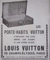 PUBLICITÉ DE PRESSE 1923 LOUIS VUITTON LES PORTE-HABITS - ADVERTISING