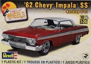 Revell 1:25 '62 Chevy Impala SS Hardtop California Wheels 2 in 1 Kit #85-4281