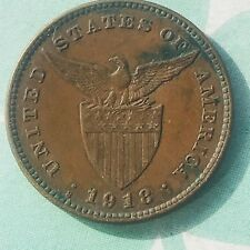 Phillipines KM#163 1918 Centavo SEMI-RARE AU