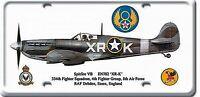 Supermarine Spitfire Placa Letrero de Metal 300mm X 150mm (Pst )