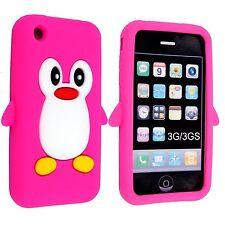 heet Roze pinguïn dekken geval voor apple iphone 3G 3GS