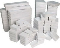 New 100 White Cotton Filled Jewelry Gift Boxes ~ assortment or any size