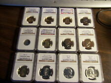 (LOT OF 4)-NGC GRADED COINS-MIXED BOX -ESTATE BUY-1 BUY=4 SLABS RANDOM PULL#car1