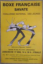 BOXE FRANCAISE SAVATE Challenge des Jeunes BOXING Nancy SOFA Pépinière 70's