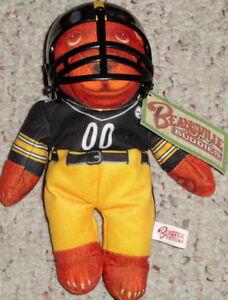 BEANSVILLE BUDDIES Pittsburgh Steeler NFL FOOTBALL TEDDY BEAR Bean Bag Plush