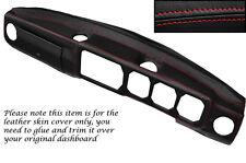 Rojo Stitch Dash Dashboard Leather piel cubierta se adapta a Alfa Romeo Alfetta Gtv