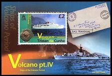 Tristan da Cunha 2013 Volcanoes Pt 4 1v MS MNH