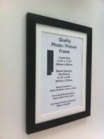 Black Photo Picture Frame 28mm (mount) 5x5 5x6 5x7 5x8 5x9 5x10 5x11 5x12 glass