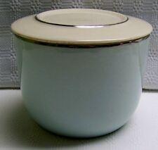 Universal Ballerina Large Refrigerator Jar Mist Platinum Bands VTG 40's 50's