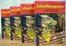 4x 2,5kg SCHNELLKOMPOSTER 10kg,für Kompostierer Komposter Kompostbehälter Dünger