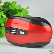 RED 2.4 GHz Wireless Cordless Optical Scroll Mouse USB Dongle Computer Laptop