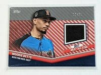 2020 Topps Update Mookie Betts All-Star Stitches Relic Red Parallel /25 Dodgers