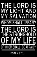 Christian Decal. Bible Verse. PSALM 27.1. Vinyl Decal
