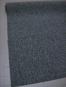 TEPPICHBODEN Auslegware 185x490 Feinschlinge Blaugrau mit Vliesrücken NEU