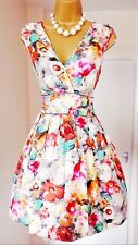 WAREHOUSE Multicoloured Floral Fit & Flare Summer Holiday Tea Party Sun Dress 12