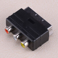 RGB Male Scart Plug to 3 RCA Female A/V Fit TV DVD VCRs BS Adaptor Converter
