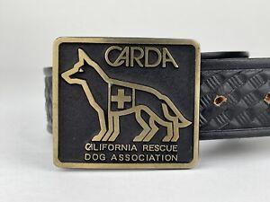 CARDA Bronze Belt Buckle Plus Leather Black Belt