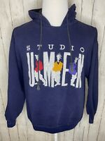 Studio Umen Vtg 90s Fresh Prince Hoodie Sweatshirt Streetwear Navy Blue L