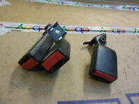 03-07 Saab 9-3 Sedan Rear Set Of Seat Belt Buckles 12794564