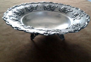 Vintage Oriental Art Deco Hammering Bowl. Silver 800. Italy, 1920s Weight 170 G