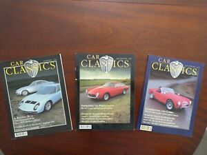 3 X CAR CLASSICS MAGAZINES 1992 ISSUES 1 & 2 AND RARE PRE-RELEASE DUMMY ISSUE
