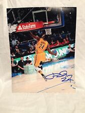 PAUL GEORGE SIGNED AUTOGRAPHED BASKETBALL 11X14 PHOTO INDIANA PACERS COA WOW C