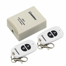 433MHz DC 12V 2CH Relay Wireless RF Remote Control Light Switch 2 Transmitters