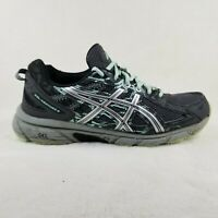 Asics Womens Gel Venture 6 T7G7Q Gray Black Running Shoes Lace Up Size 9.5 D