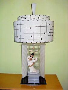*** VINTAGE MOSS ROTATING  ORIENTAL GIRL  50'S  LAMP SEE DESCRIPTION  ***