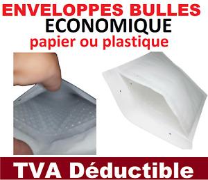 enveloppe à bulle ECONOMIQUE  pochette matelassée expédition papier ou plastique