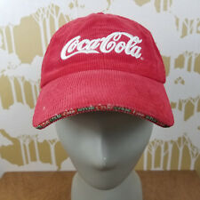 Coca Cola Holiday 2005 Corduroy Embroidered Baseball Cap Hat Give Live Love Coke