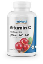 Nutricost Vitamin C with Rose Hips 1025mg, 240 Capsules