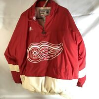 Size XL Old Vintage 1990s Detroit Red Wings NHL Hockey APEX ONE Jacket Coat XL