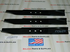 Bolens Mower Deck Blades for 48'' Deck 1738571 & 1772145 MADE IN USA! Free Ship