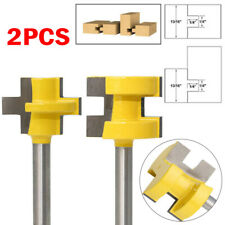 2pcs Tongue And Groove Router Bit Set 1/4 *1/4 Shank Wood Cutter Tool Kits New