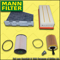 SERVICE KIT SKODA OCTAVIA 1Z 2.0 TDI MANN OIL AIR FUEL CABIN FILTERS M+H (06-10)