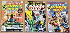 POWER MAN #37, 38, 39 (1977, Marvel) LUKE CAGE High Grades