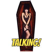 ELVIRA Sitting Mistress of the Dark CARDBOARD CUTOUT Standup Standee Poster F//S