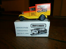 Matchbox No 38 Model A Ford with Hershey Pennsylvania 16-17th July 1994 Decals