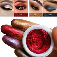 12 Color Sequins Glitter Loose Shimmer Pigment Eye Shadow Mud Cream Makeup Tool