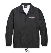 Harley-Davidson Mens Black Patina Bar & Shield Sixties Coaches Jacket 97436-20VX