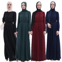 Ramadan Muslim Chiffon Abaya Women Long Maxi Dress Dubai Islamic Jilbab Kaftan