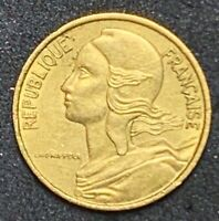 1966 France 5 Centimes Aluminum-Bronze Coin #103  (1049)