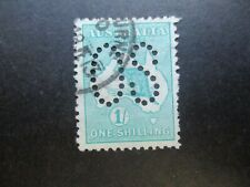 Australia Stamps: Kangaroo 1/- Blue Stamp Used - Great Item! Must Have (q1038)