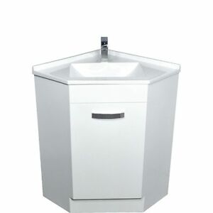Bathroom Corner Vanity Unit & Polymarble Basin Top 600mm x 600mm #PC6060