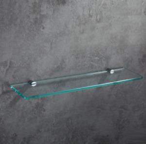Bathroom Glass Shower Shelf Rack Brass Cosmetics Shampoo Basket New 19.7inch NEW