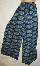 New Fair Trade Trousers 10 12 14 16 Hippy Ethnic Boho Wide Leg Cotton