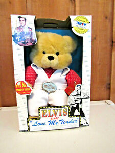 "ELVIS Teddy Bear with Soundtrack: ""Love Me Tender"" , 14"", Collector's Series"